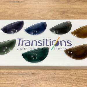 Transitions Gen8 zabarwione po wystawieniu na UV.